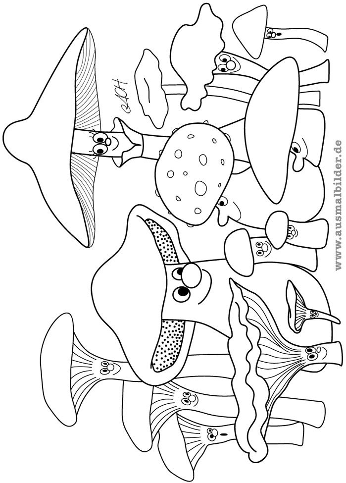 Mushroom Coloring Pages Google Search Halloween Coloring Pages Halloween Coloring Book Halloween Coloring