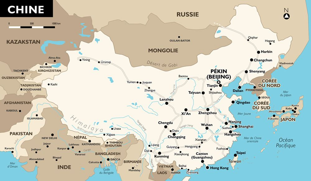 Carte Chine (avec images) | Voyage en chine, Chine, Voyage