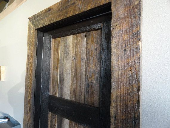 Pin By Bopeep Co On Rustic Cabin Interiors Wood Door Frame How To Antique Wood Wood Doors