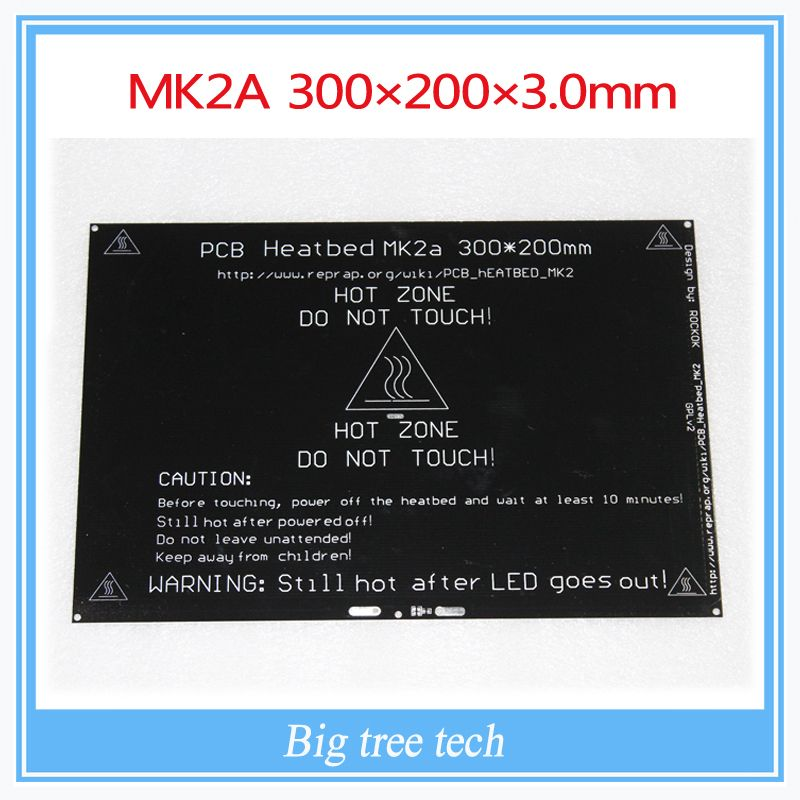 Bigger! 2015 MK2A 3002003.0mm RepRap RAMPS 1.4 PCB Heatbed For 3D Printer MK2B  EUR 24.66  Meer informatie  http://ift.tt/2ryxUlZ #aliexpress