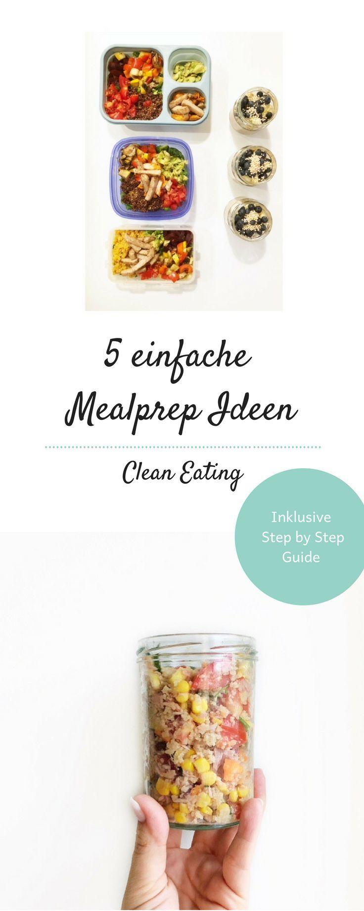 5 simple Mealprep ideas, #dietrecipesforwork #ideas #Mealprep #Simple – Carey&CleanEatingS