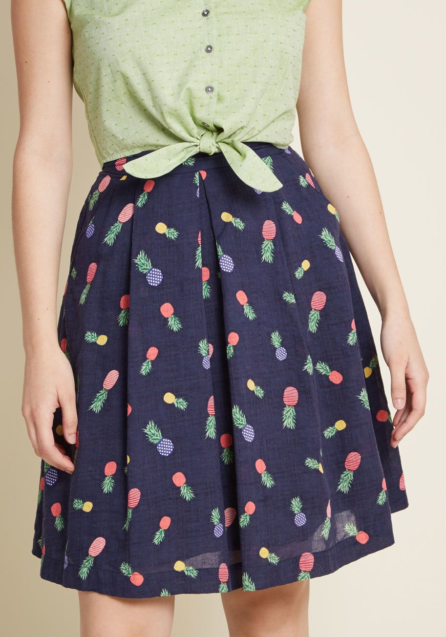 6bc3bf72a76 Louche Upbeat and Empowered A-Line Skirt in Pineapples in 2018 ...