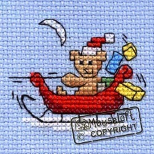 MOUSELOFT STITCHLETS CROSS STITCH KIT ~ SNOWBUNNY ~ CHRISTMAS ~ NEW