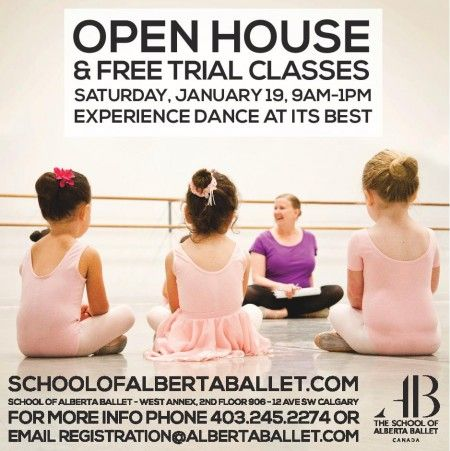 Celebrate a New Year of Dance at the January Open House! Children - free open house flyers