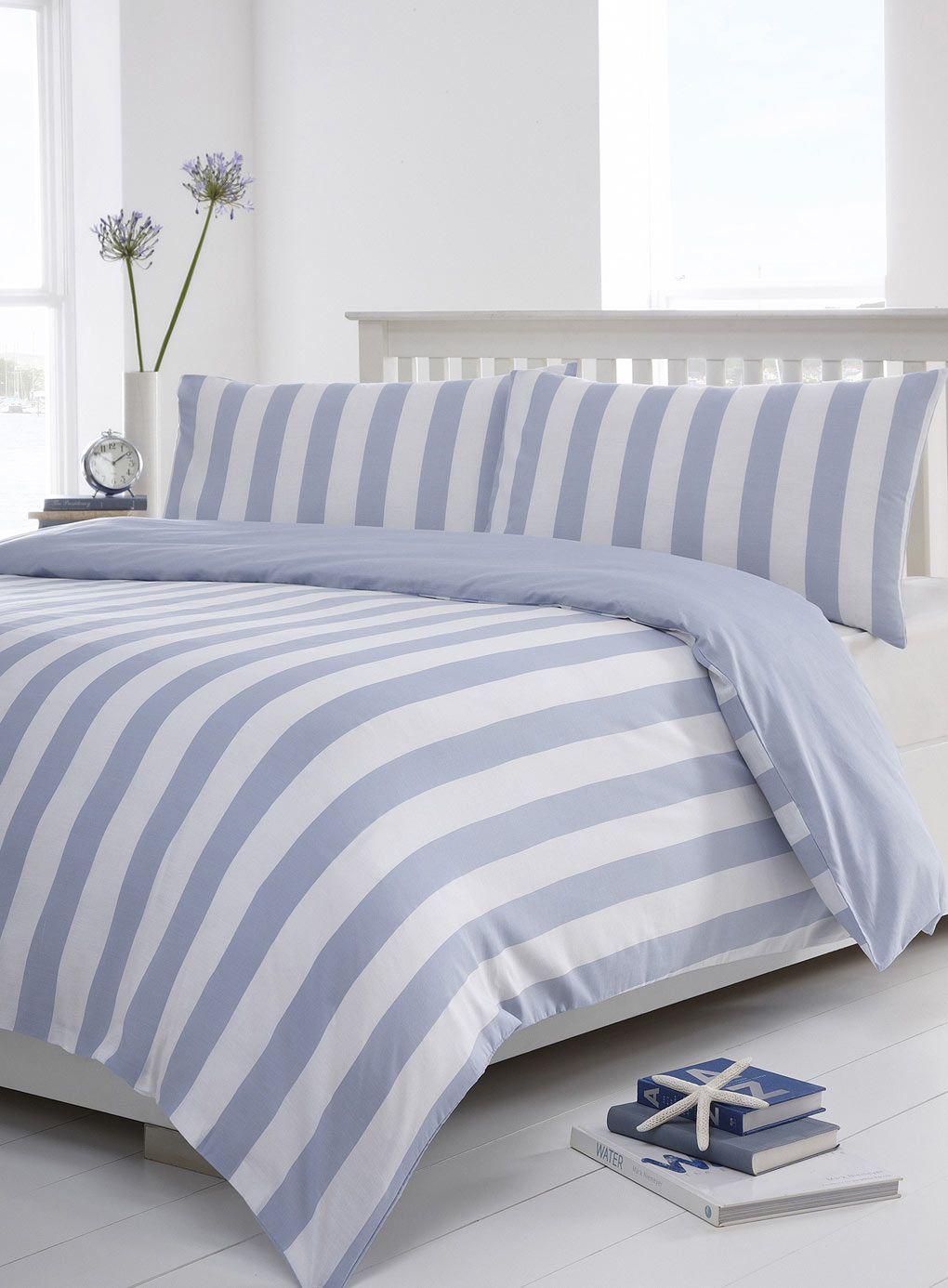 Blue Henley Stripe Bedding Set View All Bedding Sets