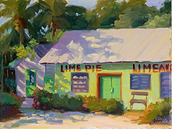 Key Lime Nostalgia by Kathleen Denis Oil ~ 12 x 16