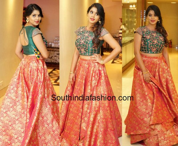 96b80b3895 Sai Krupa in Long Skirt and Crop Top | Women's Fashion | Lehenga ...
