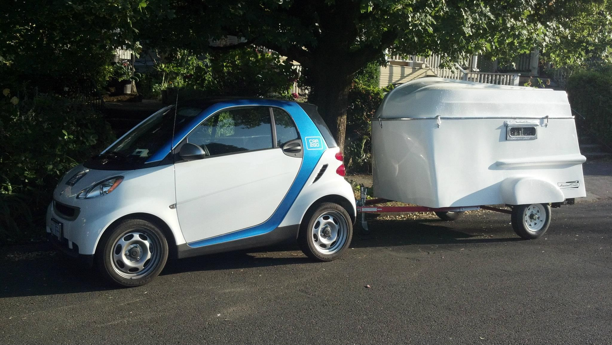 American Dream Trailer Company Portland Oregon Smart Fortwo Car Camper