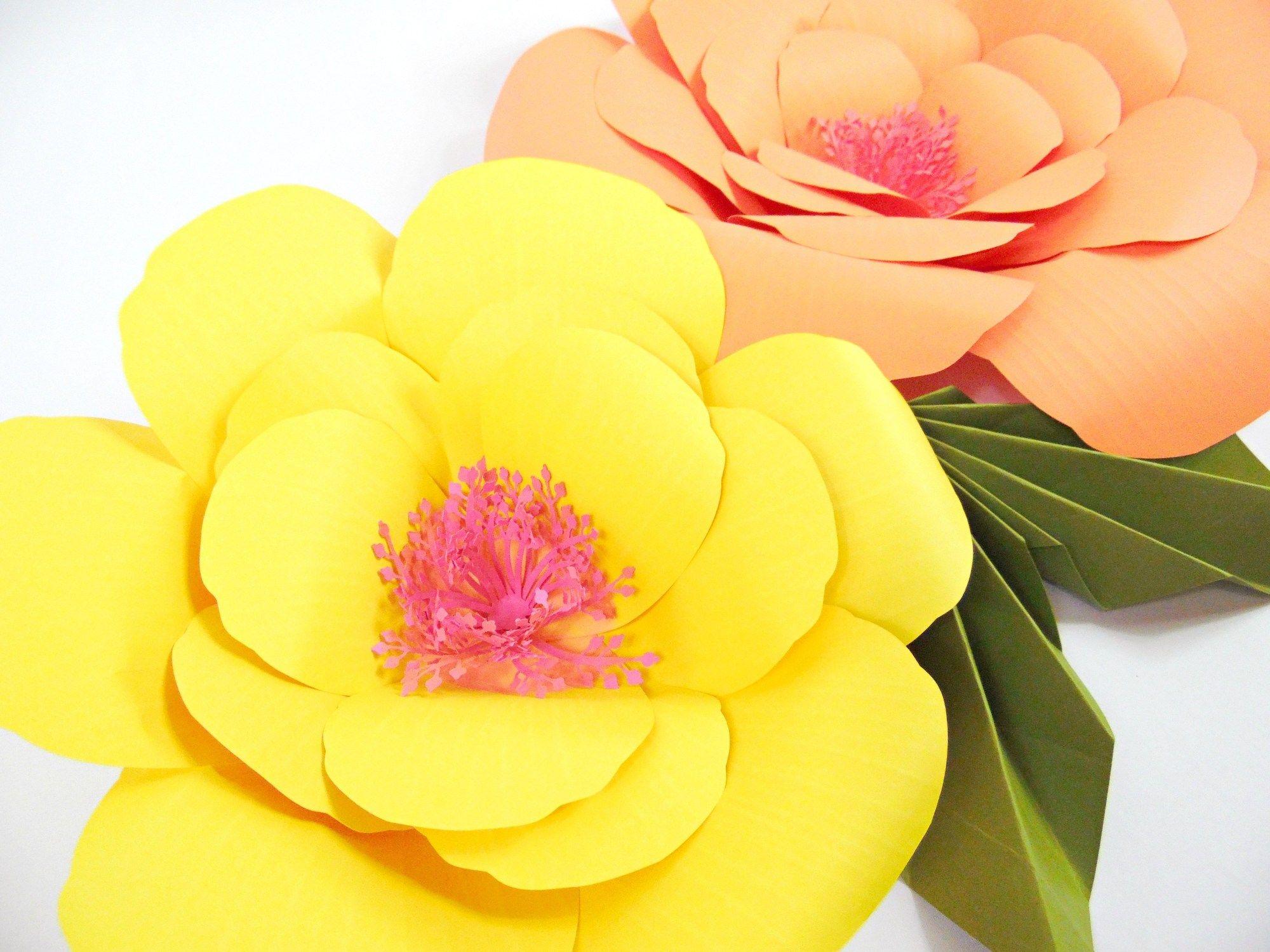 Giant Paper Flower Tutorials Diy Large Hibiscus Flowers Paper