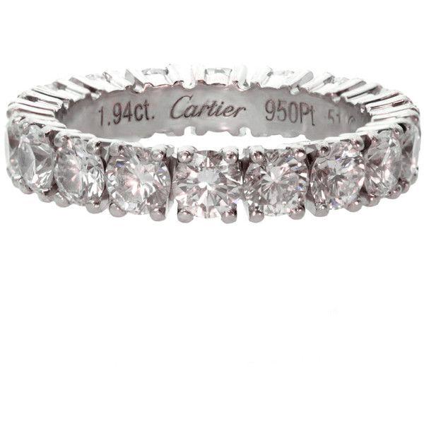 Cartier 1 94 Carat Diamond Eternity Size 51 Wedding Band Liked On