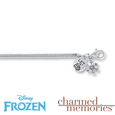Kay Jewelers Charmed Memories Frozen Charm Bracelet Sterling Silver