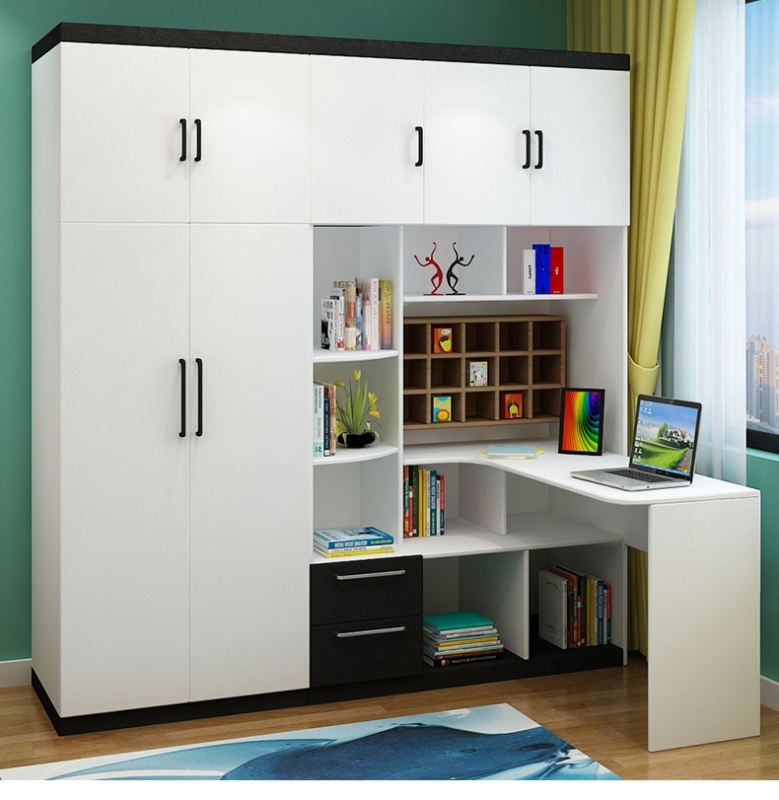 Conjoined Desk Cabinet Simple Modern Corner Custom Bookcase Wardrobe One Combination Cabinet Home In 2020 Study Room Decor Study Table Designs Computer Desks For Home