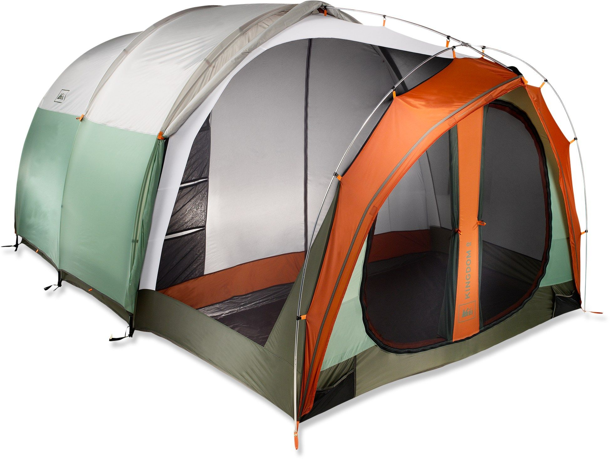Send Dad Camping REI Kingdom 8 Tent