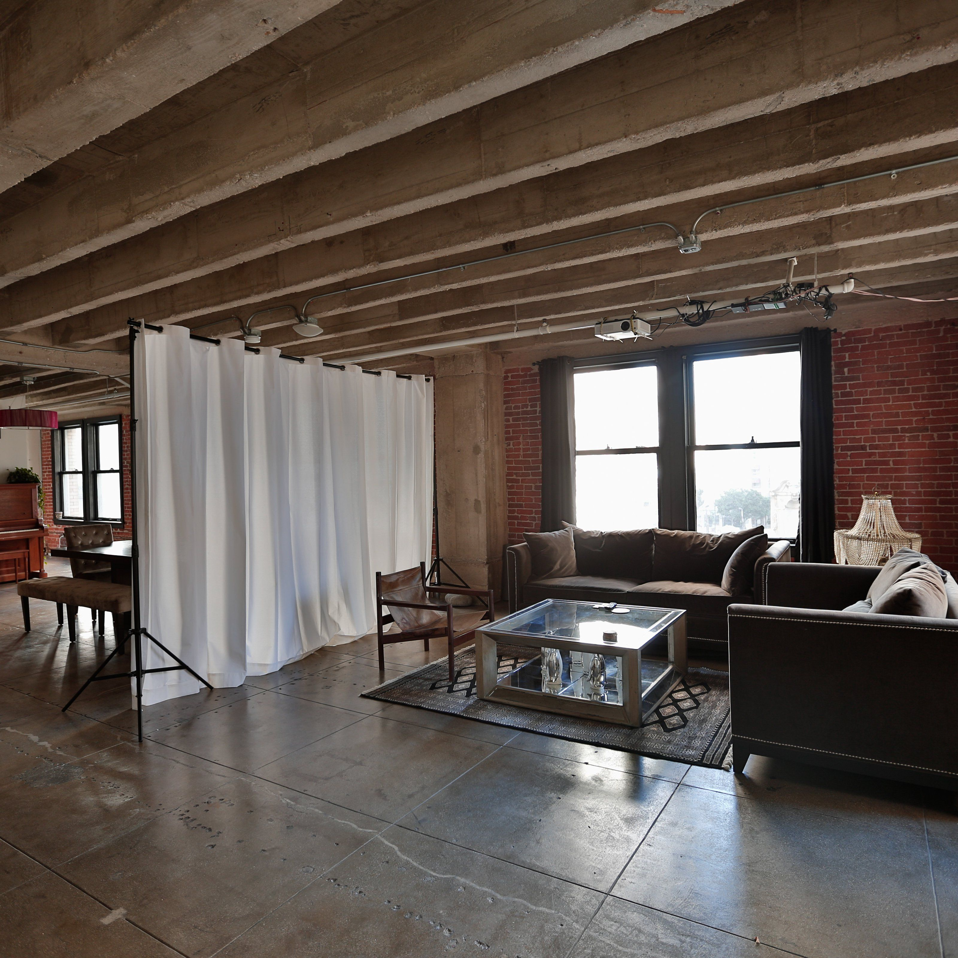 Have to have it RoomDividersNow Loft Style Room Divider Hanging