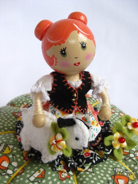 Mary and her Little Lamb | Fairy dolls, Wooden christmas ...