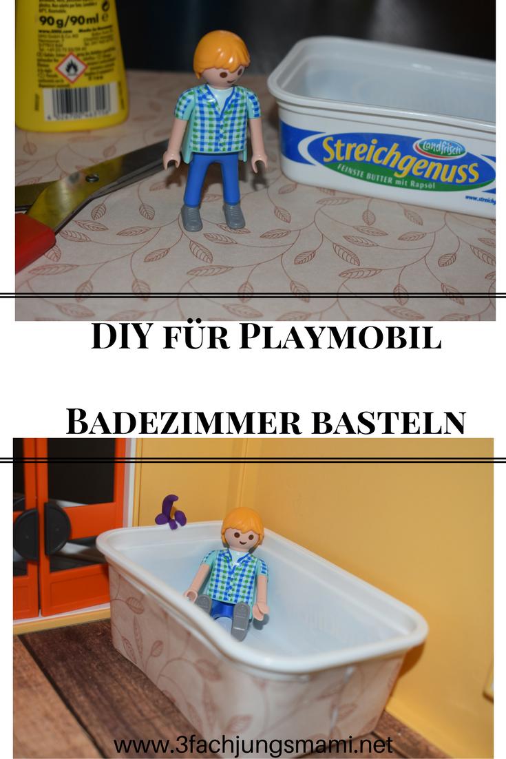 DIY - Wir basteln ein Playmobil Badezimmer | Basteln, Ideen ...
