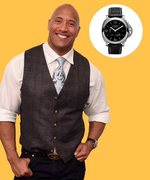 b60e3a77d10 Dwayne Johnson s innovative Panerai Luminor time piece makes an appearance  at The Fast Company Innovation Festival.
