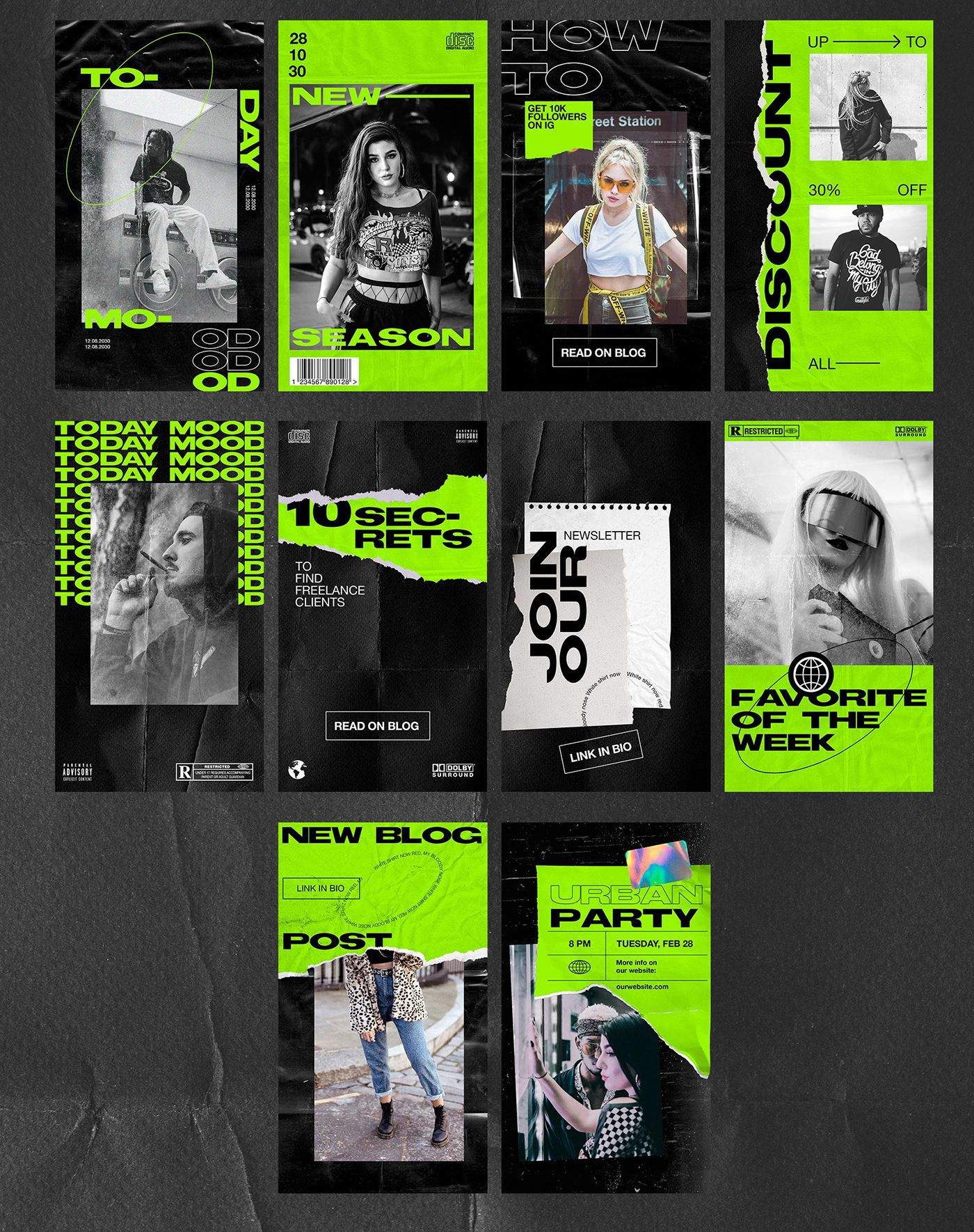 Streetwear Instagram Stories Pack, Streetwear Inst