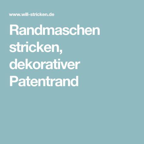 Photo of Strickkantenstiche, dekorative Patentkante
