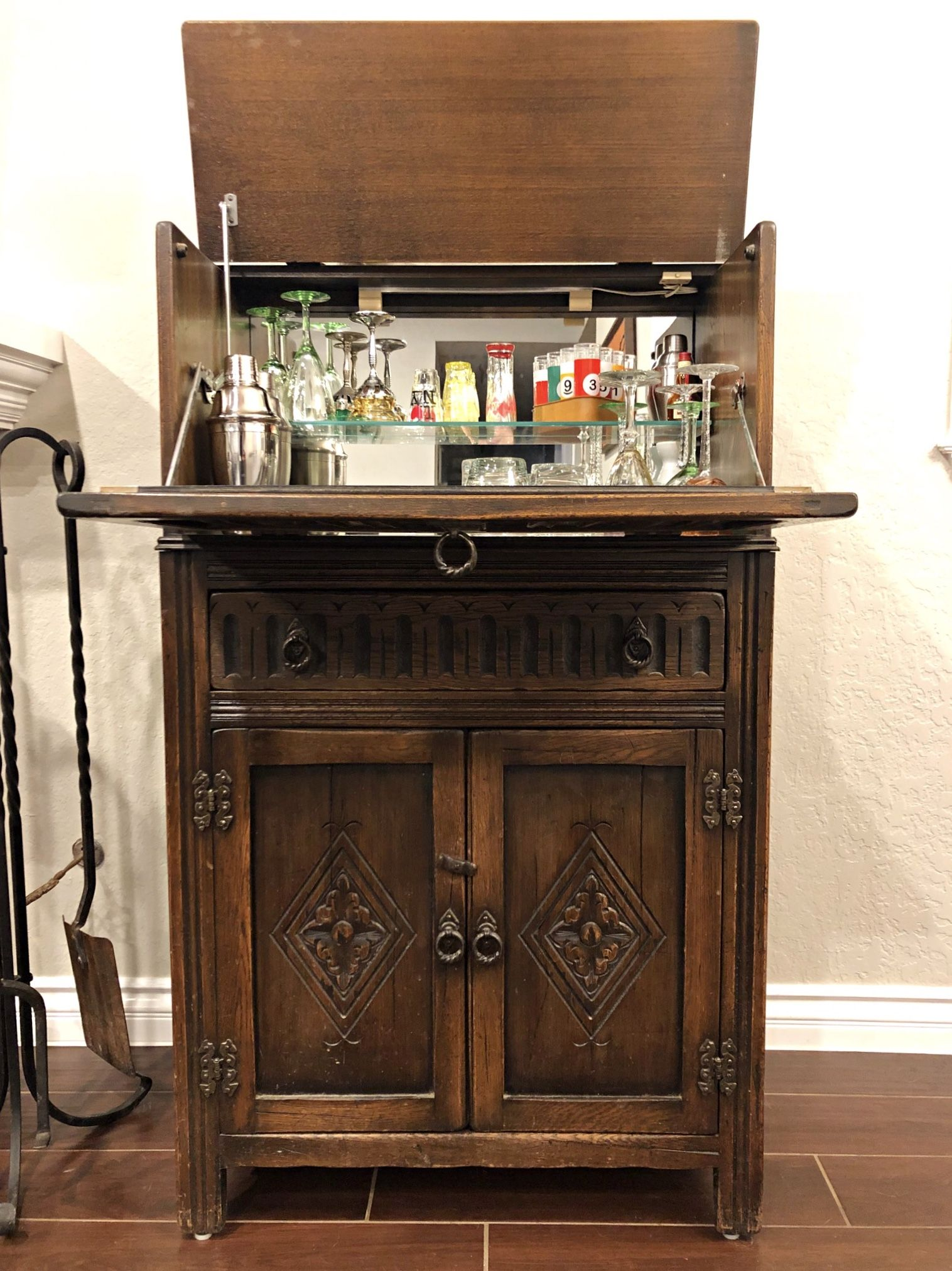 Unique Vintage Bar Cabinet This Is A Piece I Decided To Keep For