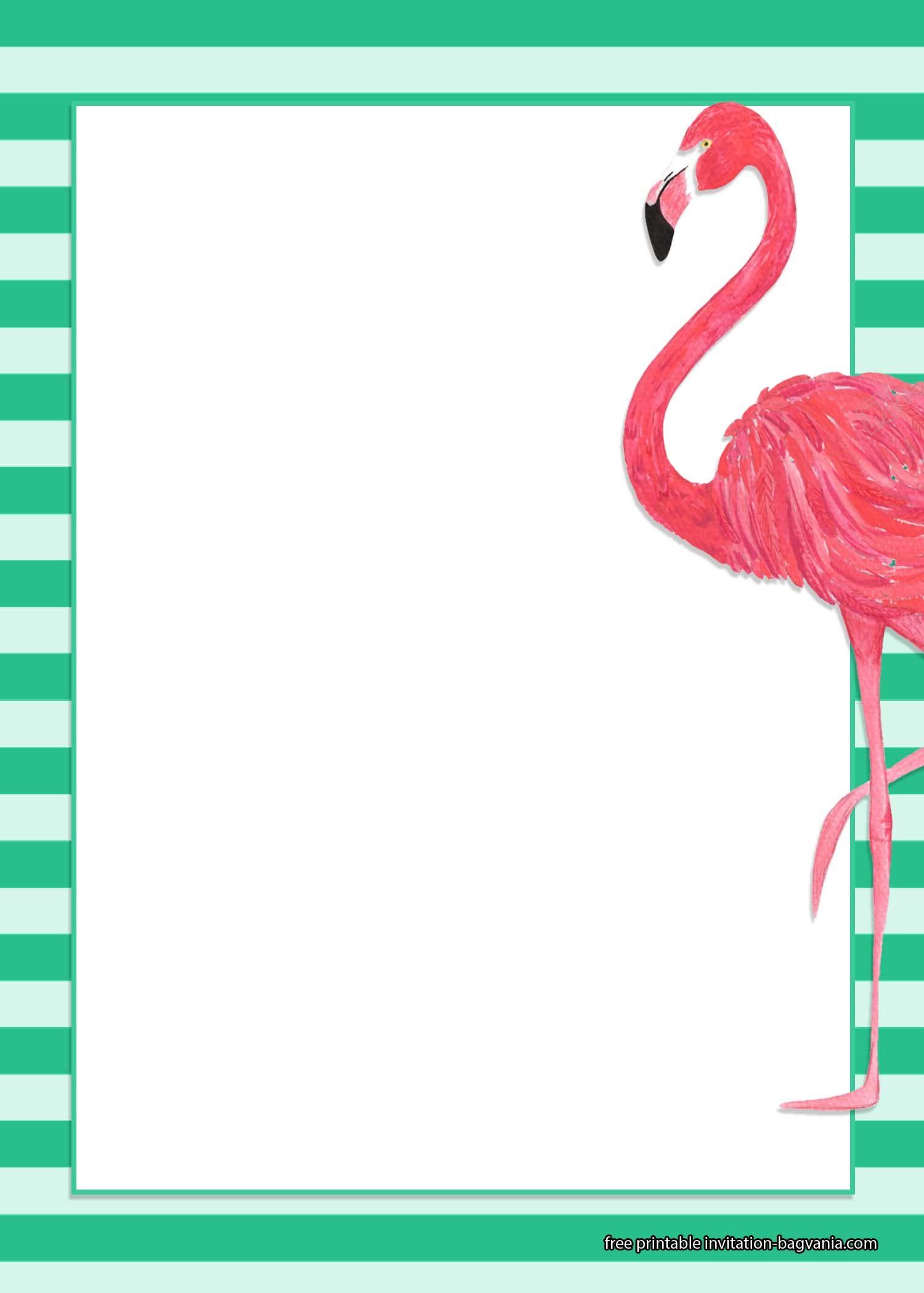 Free Printable Flamingos Invitation Templates Flamingo Invitation Flamingo Free Printable Birthday Invitations