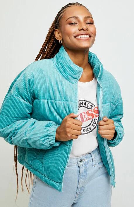 LA Hearts Corduroy Puffer Jacket | Puffer jacket outfit ...