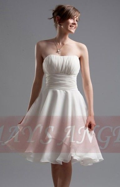 Robe de cocktail blanc casse