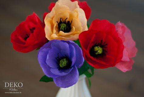 Diy Herbstblumen Aus Krepppapier Deko Kitchen Blumen Aus Krepppapier Krepppapier Blumen Basteln