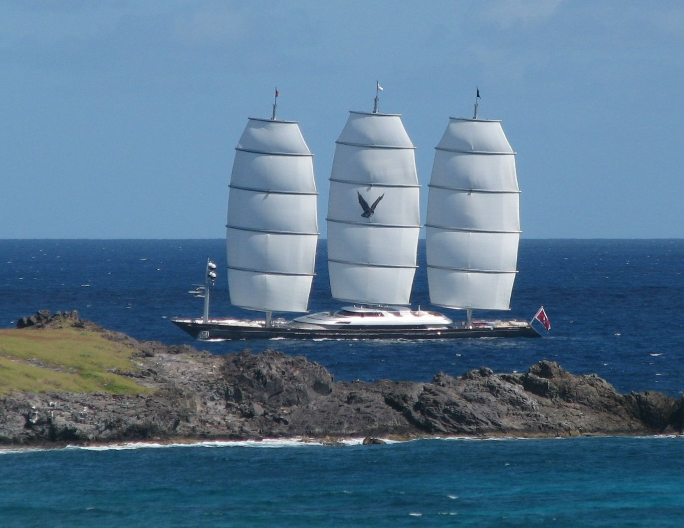 Maltese Falcon Closer Luxury Sailing Yachts Boats Luxury Sailing Yacht