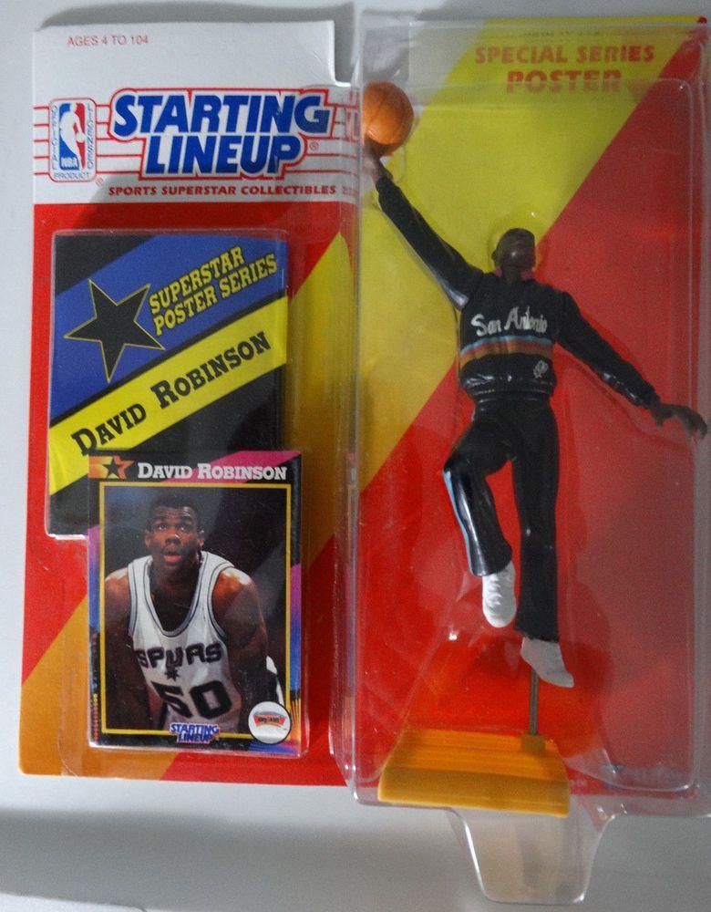 Starting Lineup 1996 de basketball de la NBA David Robinson San Antonio SPURS