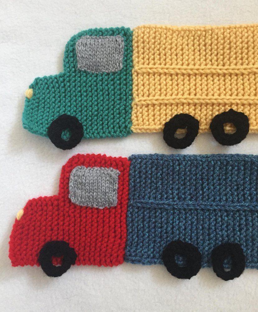 ff56866da29 Child s Truck Scarf - Knitting ePattern Knitting pattern by Frugal Knitting  Haus