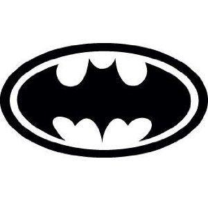 Batman Retro Logo Vinyl Sticker X1 Black White Amazon Co Uk