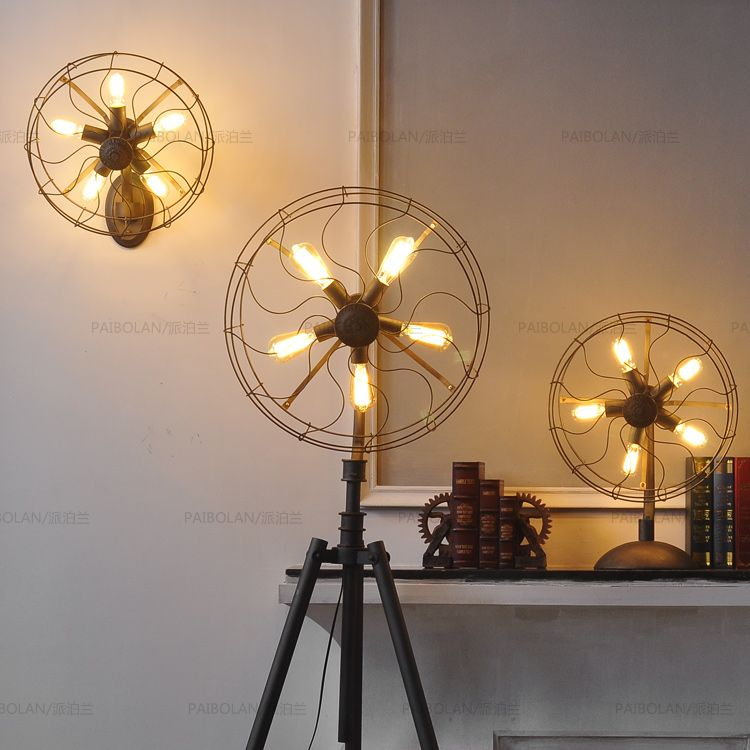 Vintage floor lamp stage fixtures google search creative american style floor lamp fan light nordic brief lamp vintage edison bulb lamp antique retro lighting fixture mozeypictures Gallery