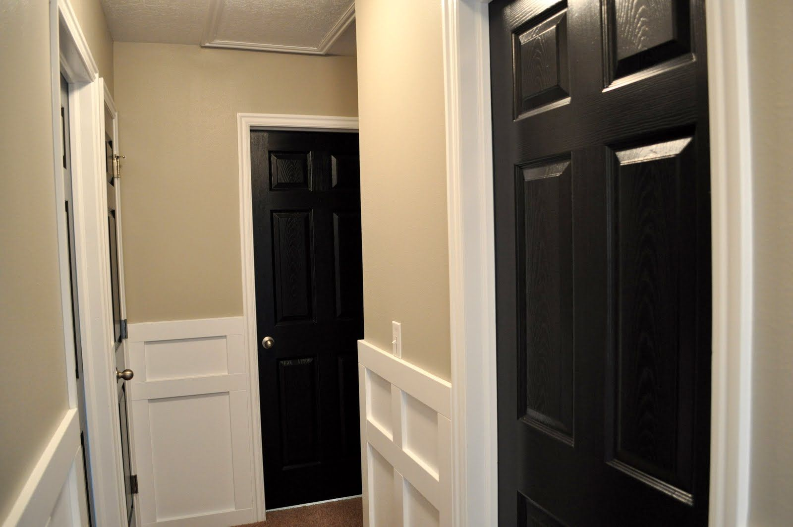 Black doors with white trim - 10 Images About Flooring Trim Amp Hallways On Pinterest Stair 10 Images About Flooring Trim Amp