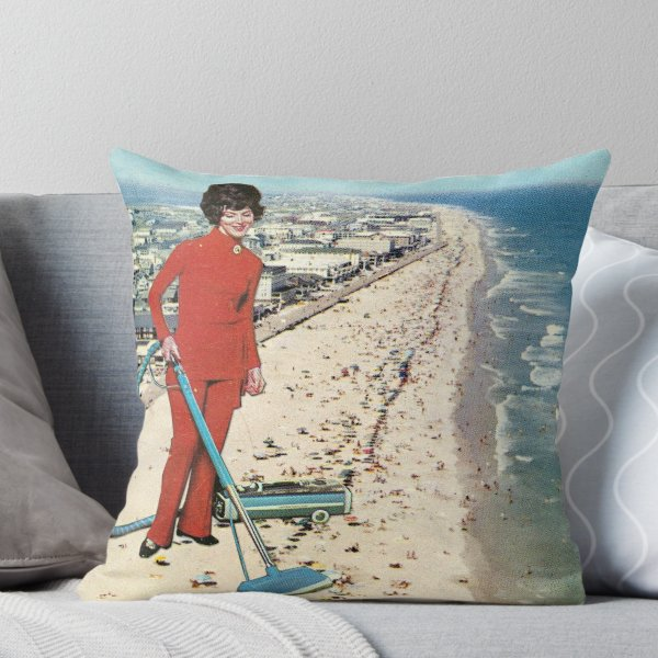 Dry Cleaning' Throw Pillow by