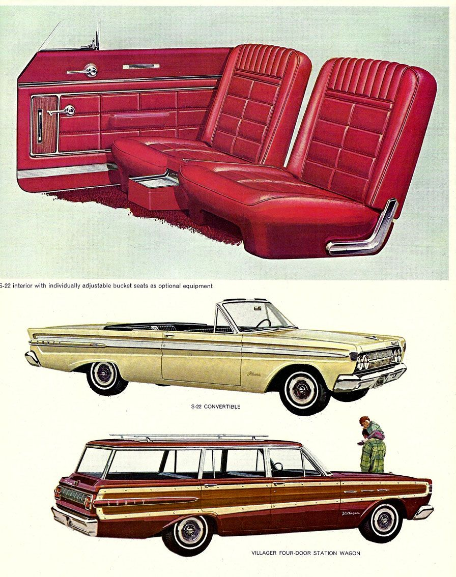 1964 Comet Caliente Convertible And Villager Station Wagon