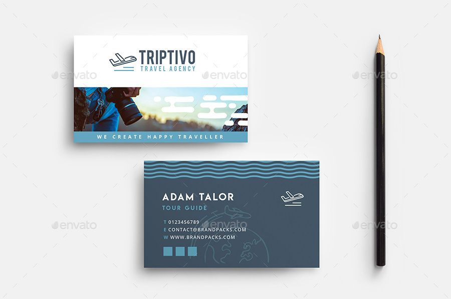 Travel Company Business Card Template Activities Brandpacks Calling Excursion Holiday Ilrator