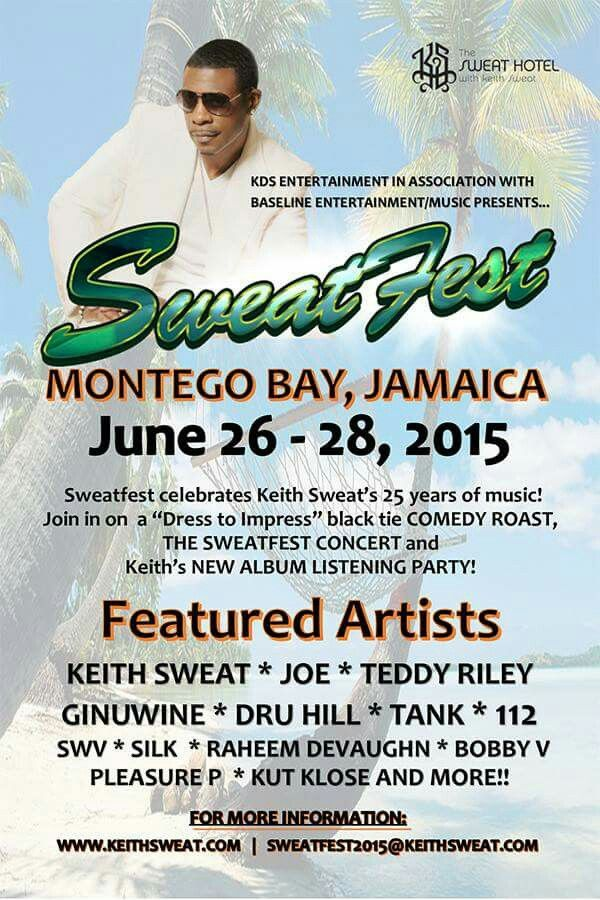 Keith Sweat tour in Jamaica