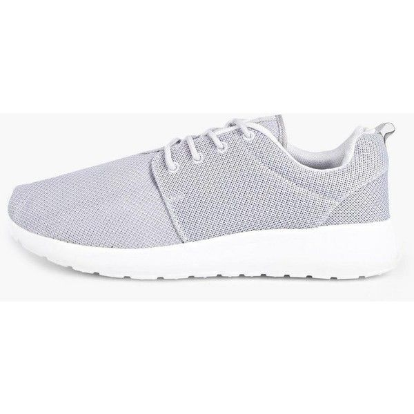 BoohooMAN Lace Up Mesh Trainers (85 PEN) ❤ liked on Polyvore featuring  men s fashion 578085dc9