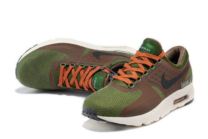 Free Shipping Only 69$ Men Nike Air Max Zero Olive Green Army Green Orange