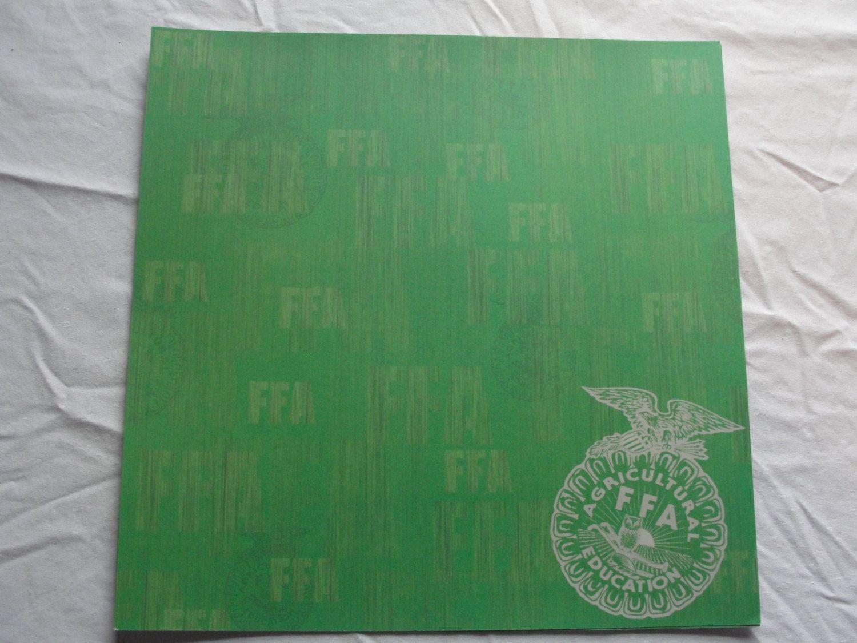 Ffa Green Background 12x12 Scrapbook Paper By