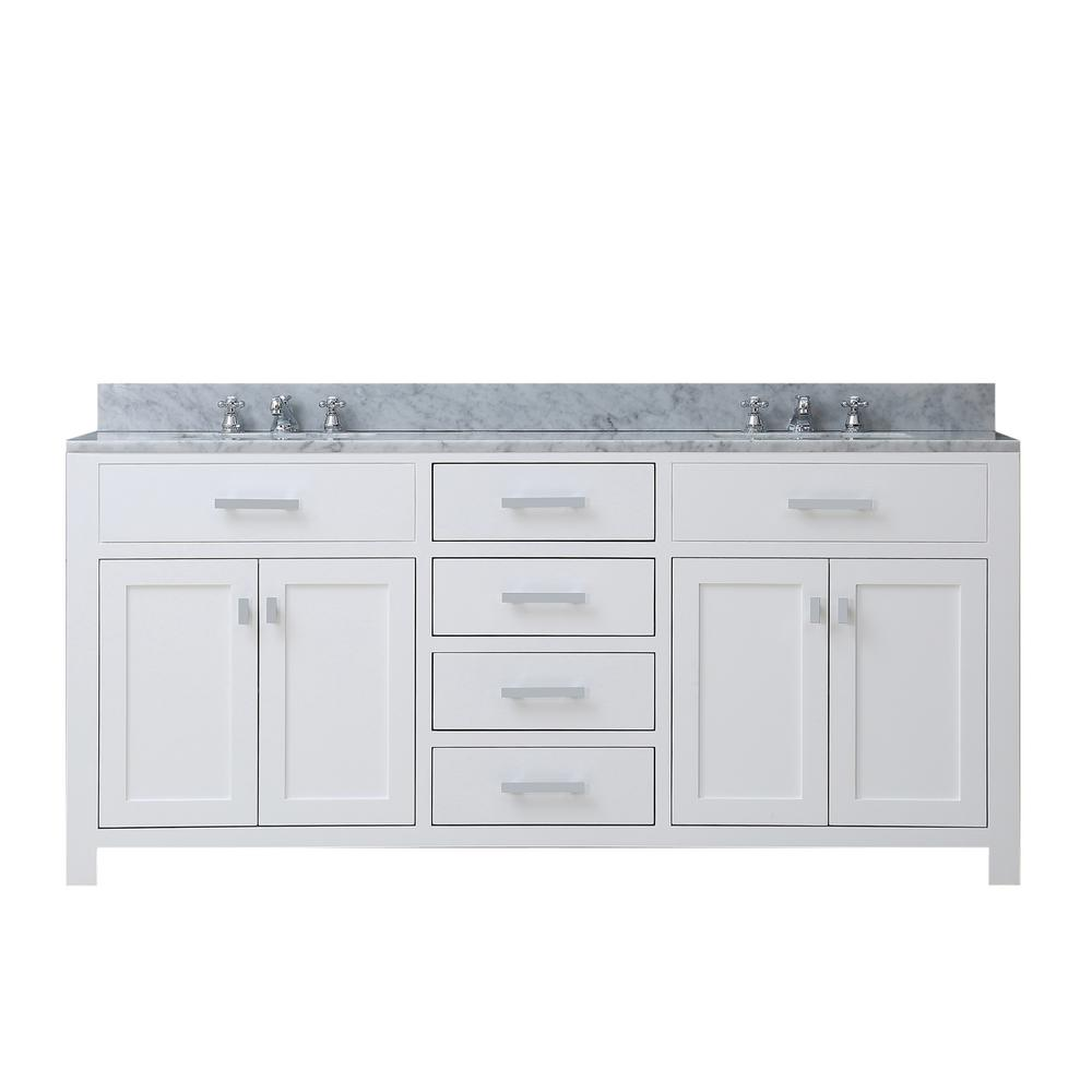 Water Creation Madison 60 In W X 21 5 In D Bath Vanity In White