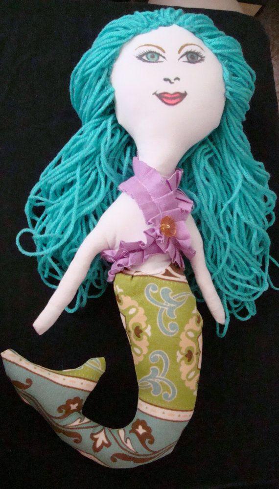 Teal Mermaid Doll by Windspiritdesign on Etsy