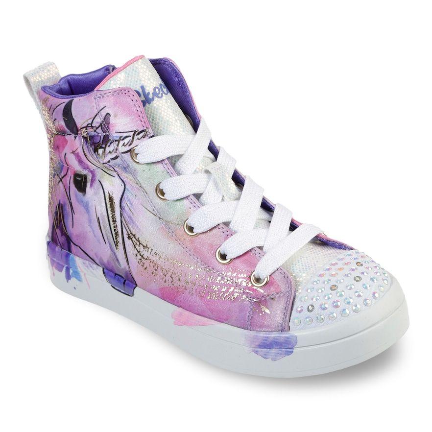 Skechers Twinkle Toes Twi Lites Unicorn Splash Girls Light Up