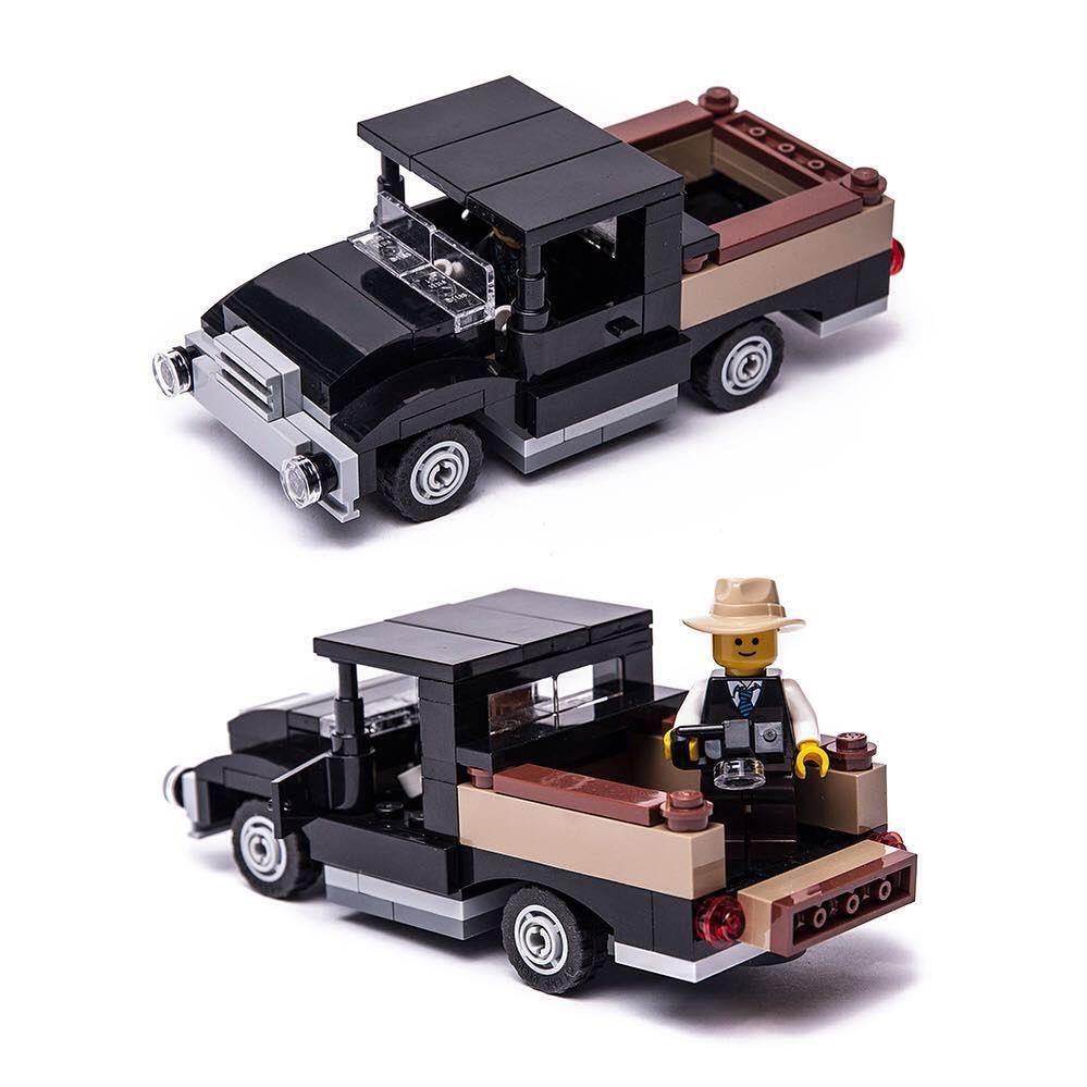 Oldtimer Pickup Car Legolegocarlegocitylegomoc