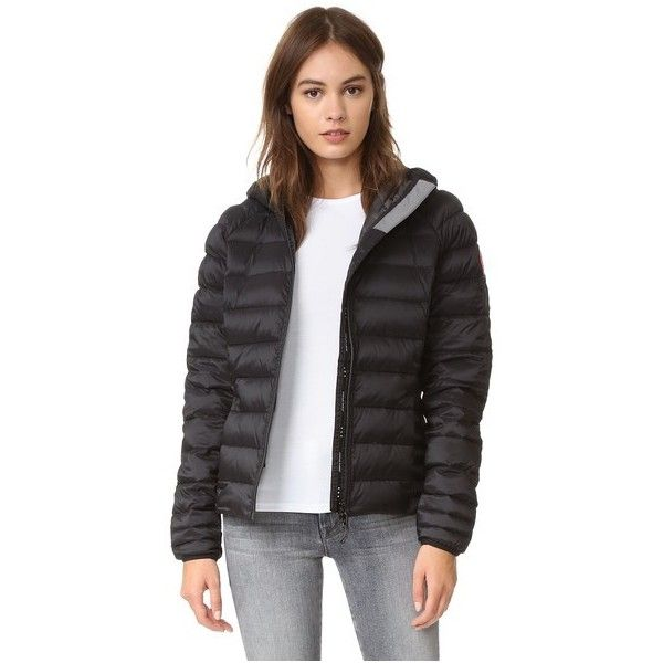 Canada Goose Brookvale Hooded Jacket ($525) ❤ liked on Polyvore featuring outerwear, jackets