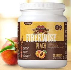 Fiberwise Peach or Orange Drink with Probiotics 30 packets
