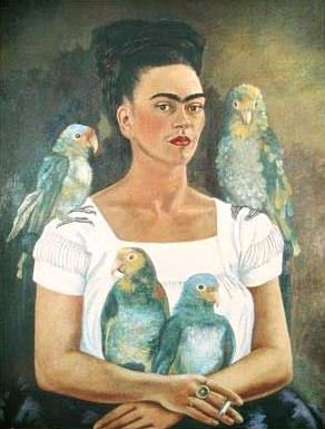 Me and my parrots | Art -Frida Kahlo | Art, Kahlo ...