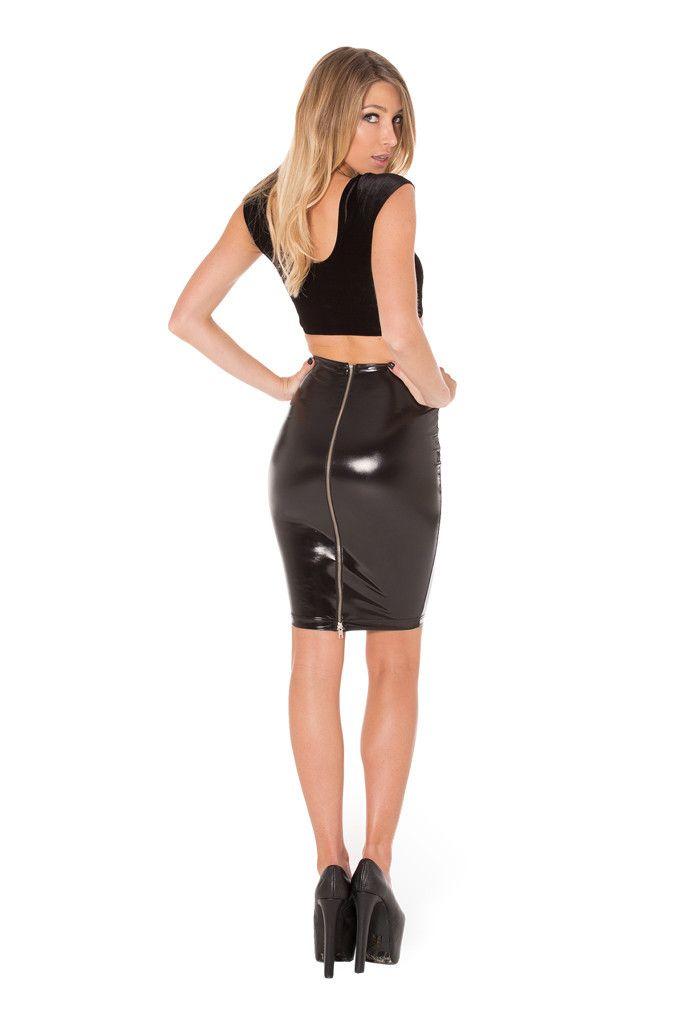 Pvc pencil skirt black – Modern skirts blog for you