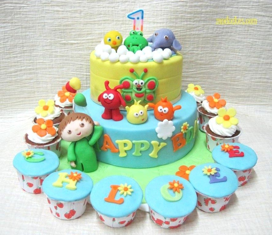 Baby Birthday Cakes For Girls Bolos aniversrio Pinterest